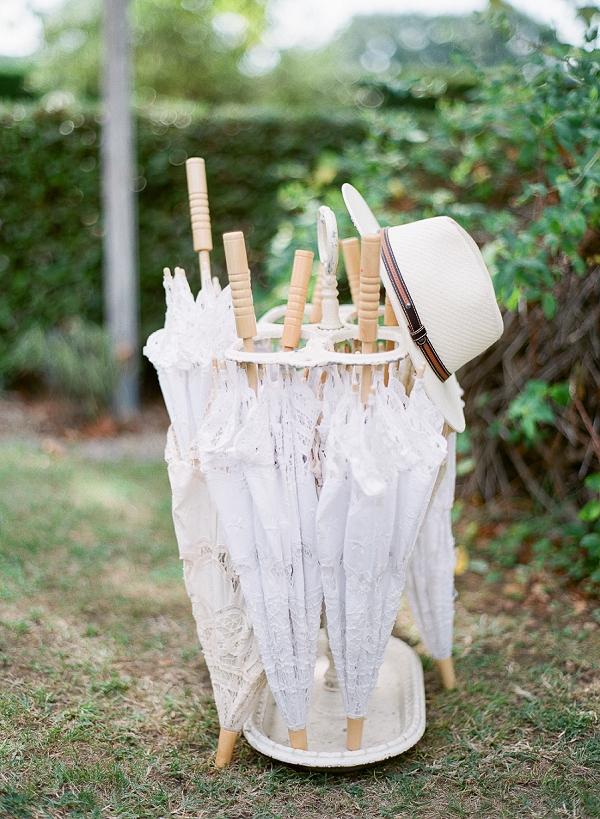 Lace wedding parasols