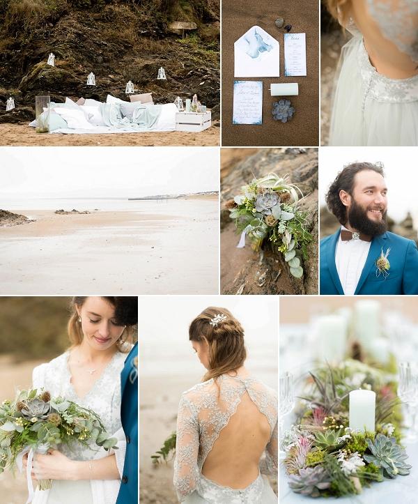 Loire Atlantique Beachside Wedding Inspiration Snapshot