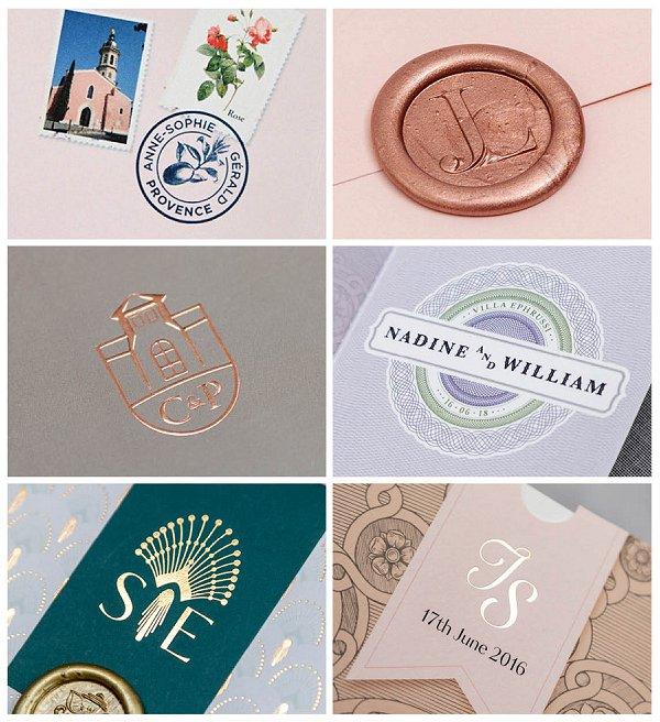 Louise Richardson French Wedding Stationery Monograms