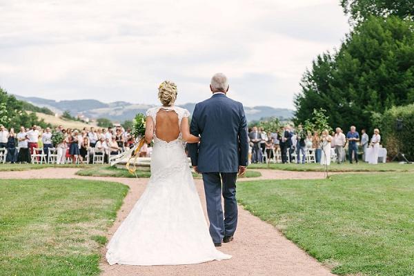 Outdoor wedding ceremony Lyon