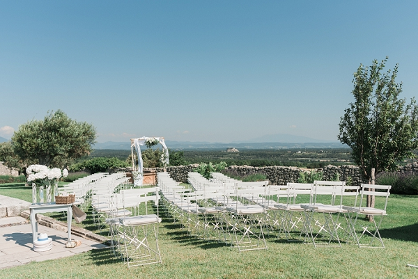 Outdoor wedding ceremony Provence