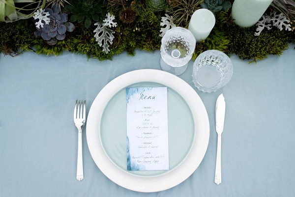 Pastel blue wedding theme