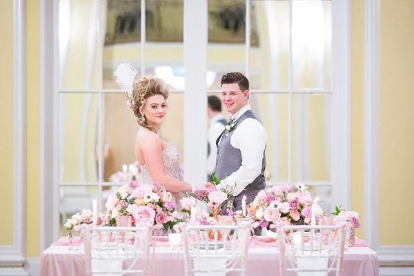 Pink inspired wedding reception