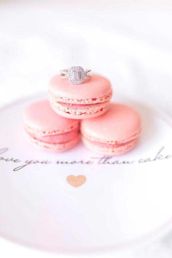 Pink macaroon ring shot