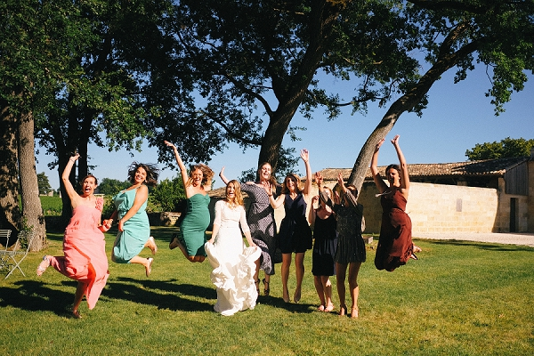 Real life vineyard wedding