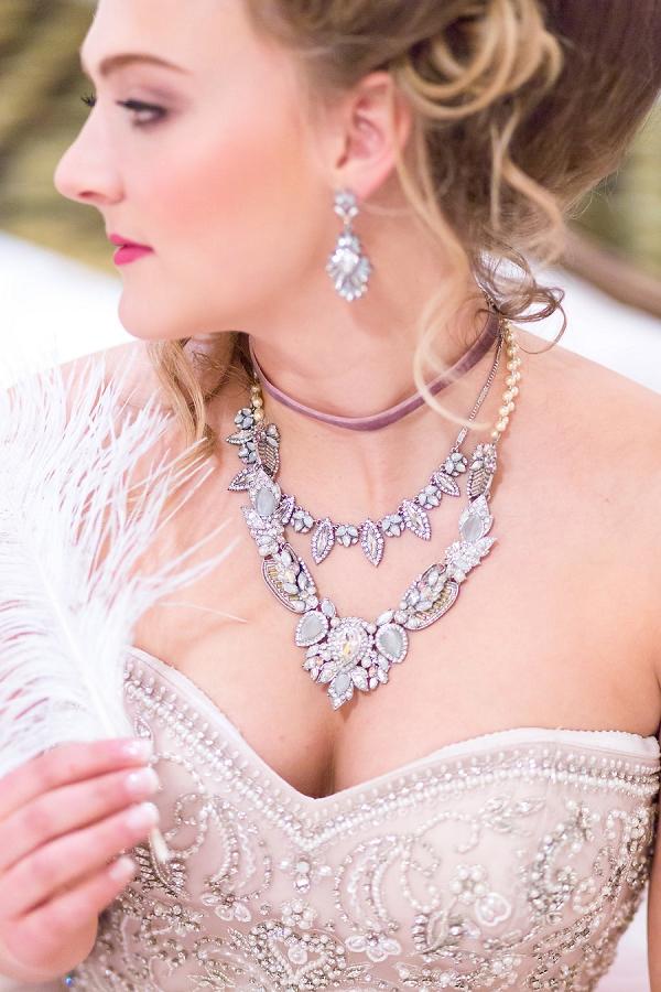 Statement necklace wedding jewelry