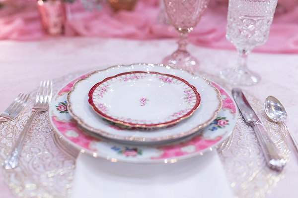 Vintage wedding dinner plates