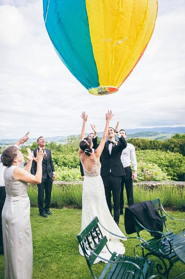 Wedding balloon release ideas