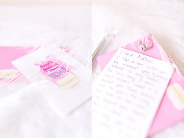 Wedding day love note