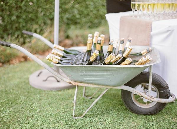 Wheelbarrow champagne cooler