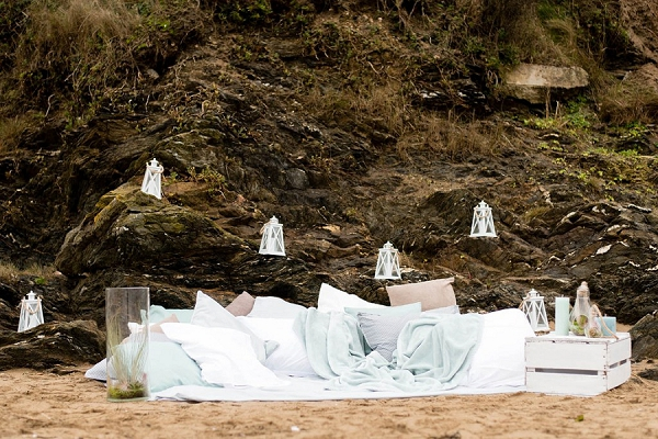 Winter beach wedding