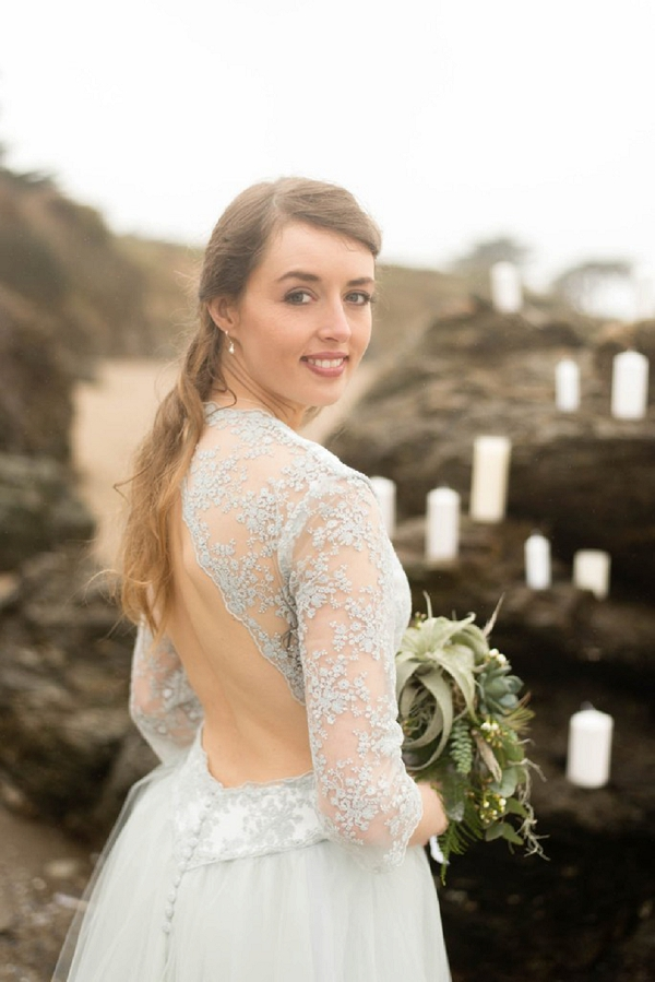 Winter inspired wedding dress