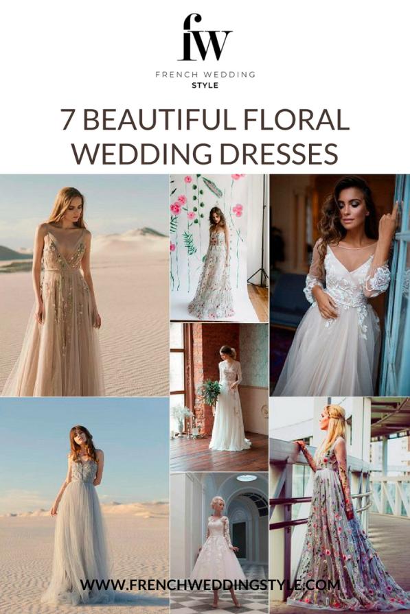 7 Floral Wedding Dresses Etsy