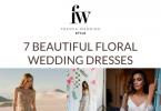 7 Floral Wedding Dresses short