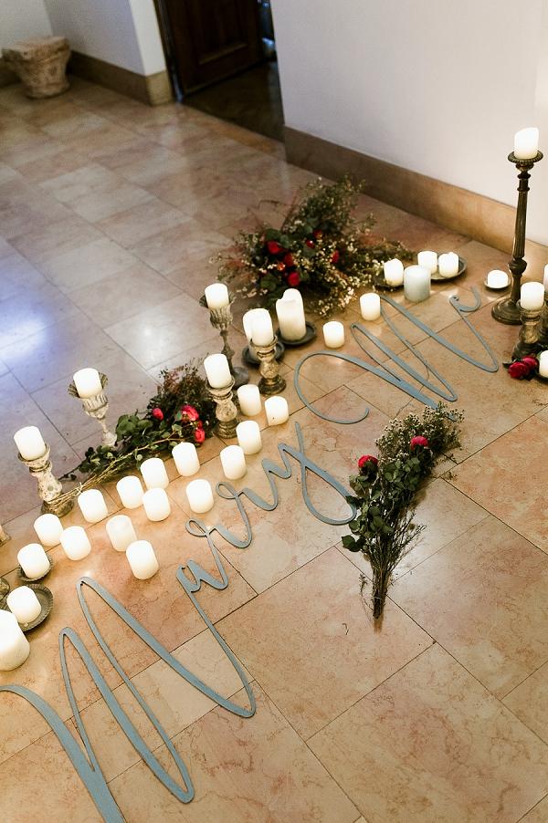 Candle lit proposal ideas