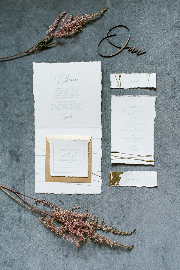 Crème de Papier wedding stationery