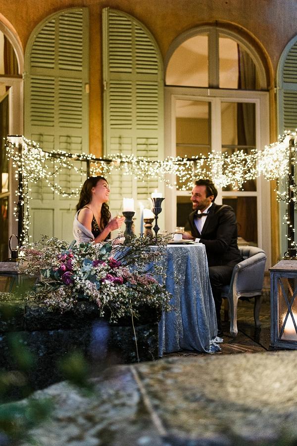 Fairylight sweetheart table