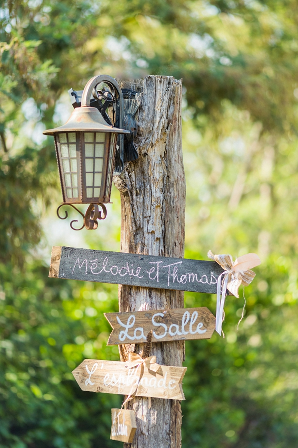 Hand made wooden wedding signs