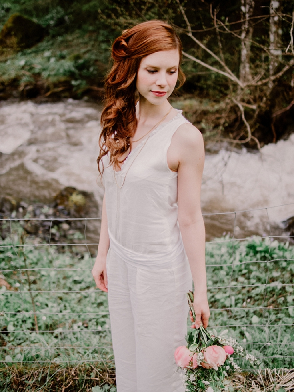 Mountain wedding bridal portrait