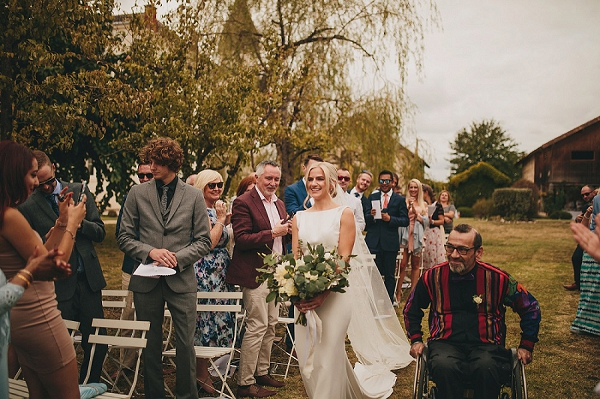 South west France outdoor wedding ceremony