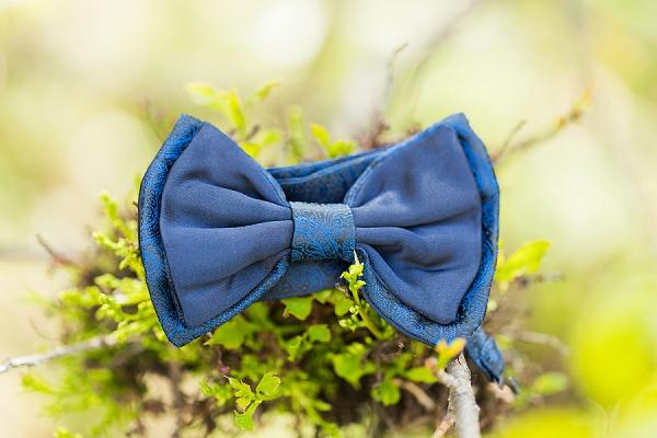 blue bowtie wedding