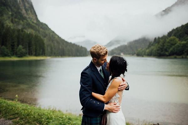 french alps wedding portraits