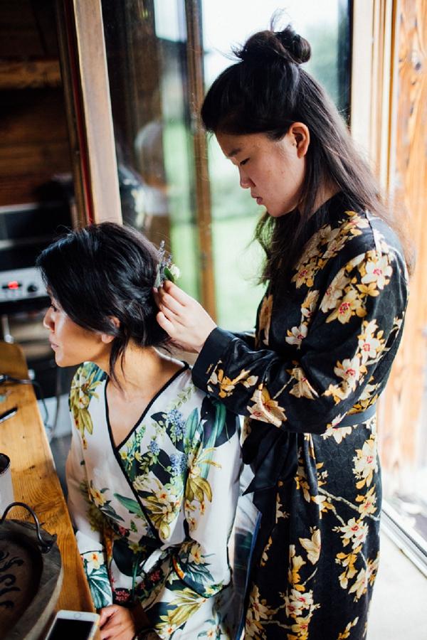 oriental inspired wedding robes