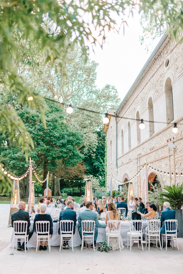 outdoor french wedding reception