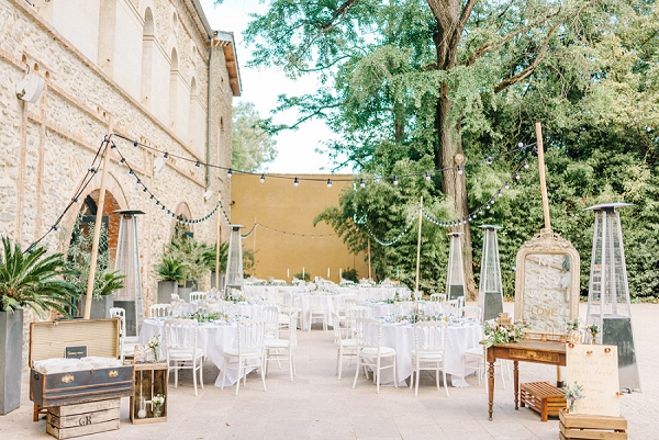 pretty wedding decor france