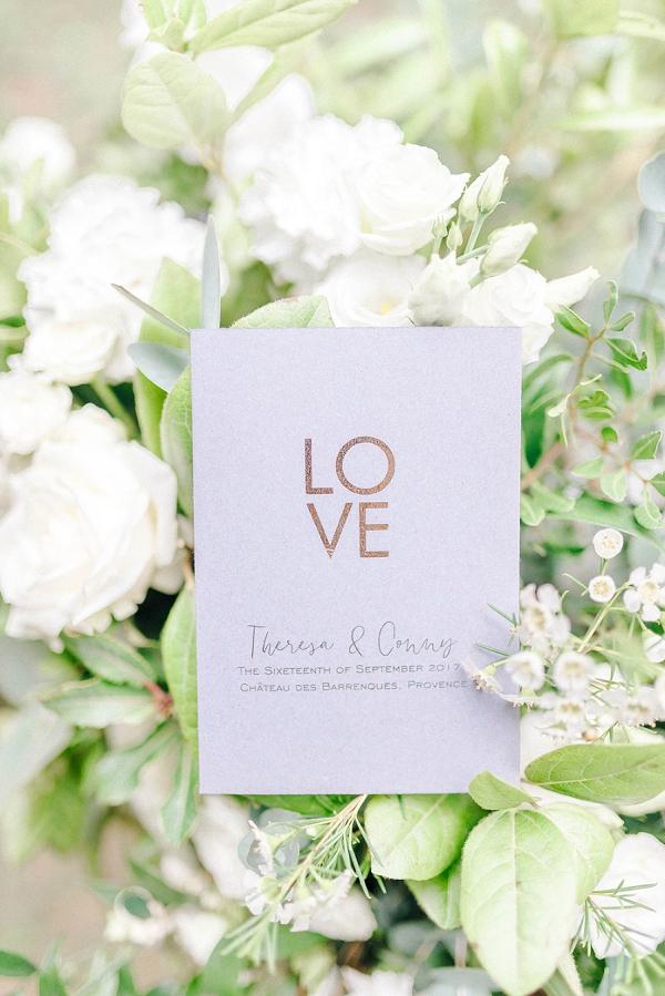 simple wedding invite