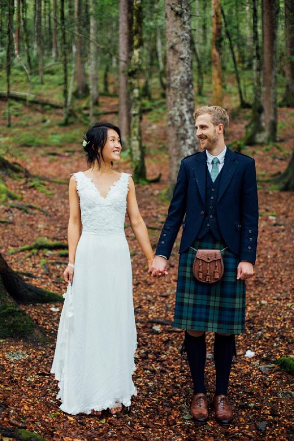 tartan wedding outfit