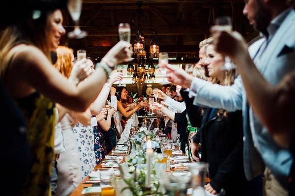 wedding reception french alps