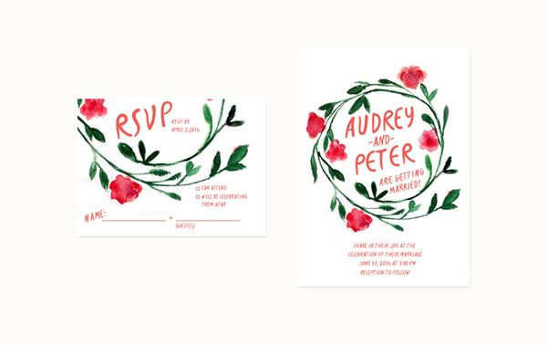 French Wedding Invite French Flower Crown