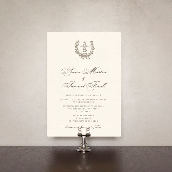 French Wedding Invite French Wreath