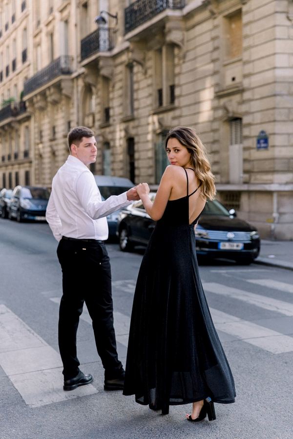 black dress Paris