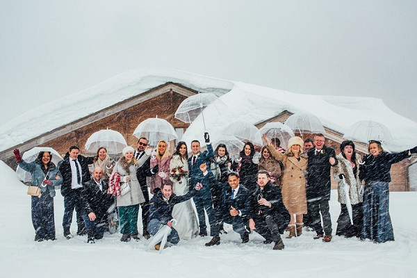 blizzard wedding french alps