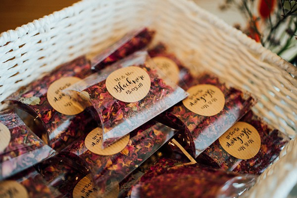 burgundy wedding confetti