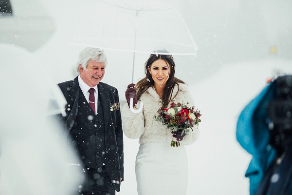 clear umbrella wedding photo