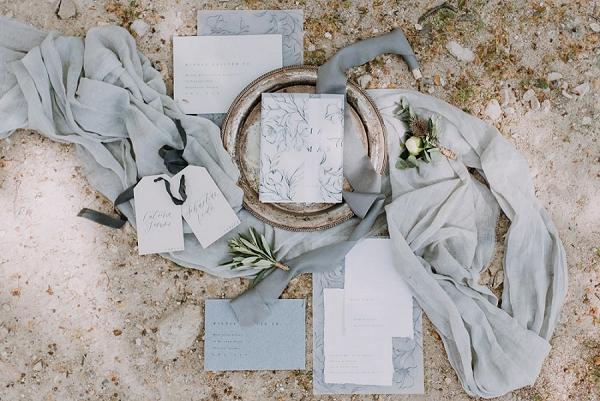 dusky blue wedding details