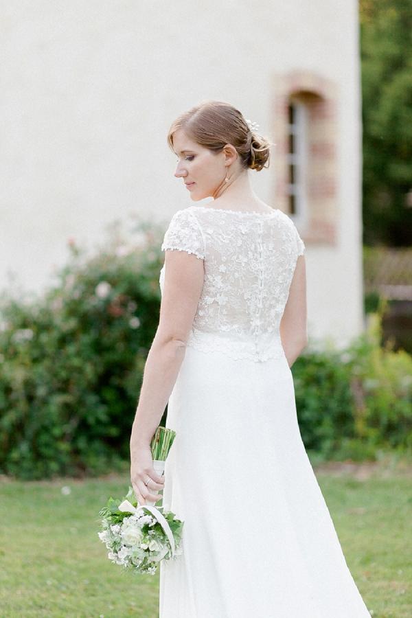 elegant two piece wedding gown