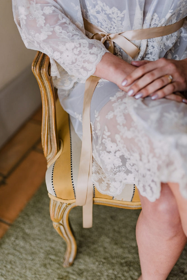 lace wedding robe