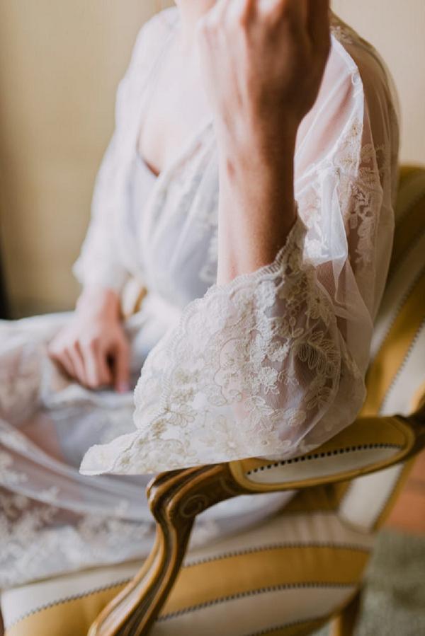 luxury wedding robe