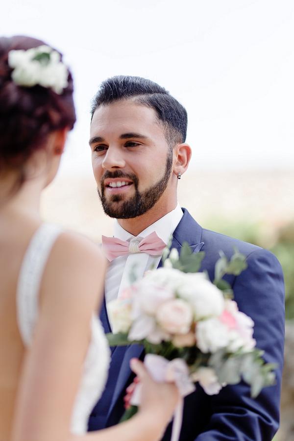 navy blue suit groom
