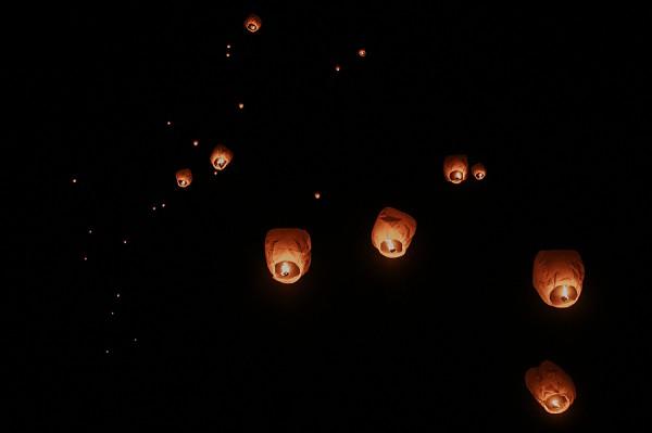 wedding lantern release