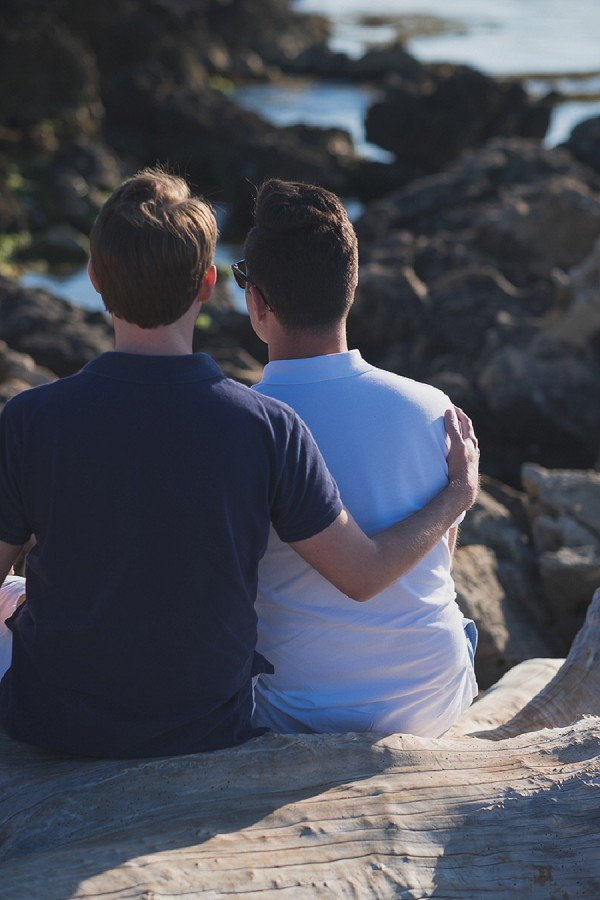 Beachside engagement