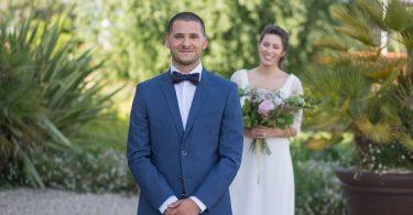 Bordeaux wedding first look