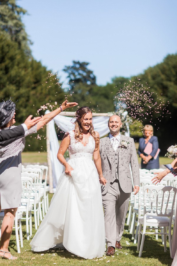 Charente wedding confetti