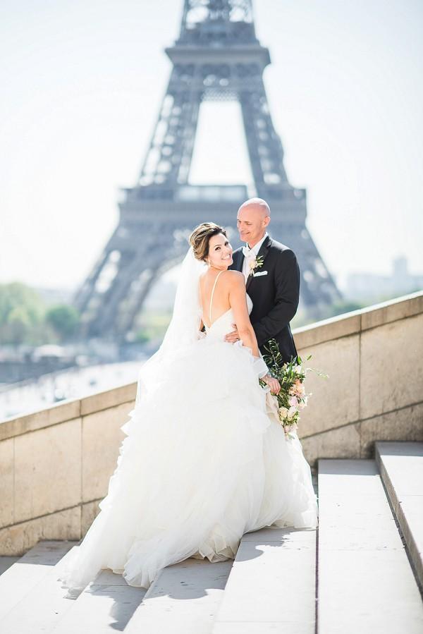 Eiffel tower wedding portraits
