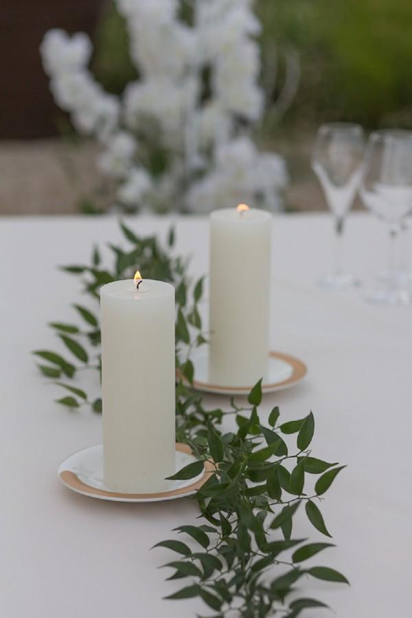Foliage wedding table runner