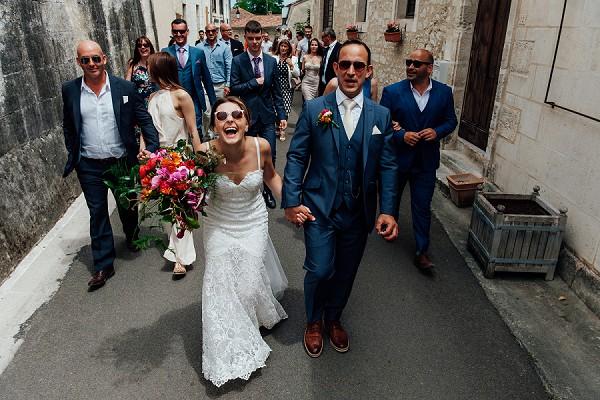 Fun wedding Dordogne